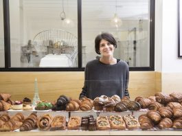 Agathe Kerr in ihrer Patisserie am South Melbounre Market im Juli 2018.
